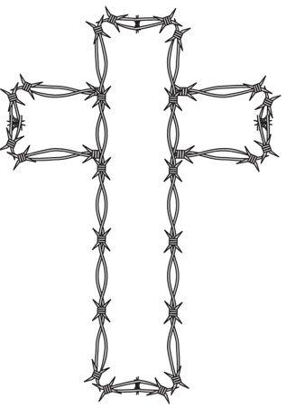 crossessBarbed Wire Cross Tattoos
